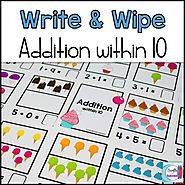 Addition Write and Wipe: Addition within 10 by Mercedes Hutchens