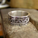 Buddhist Jewelry Rings | The Ring of Eternal Flow - Silver
