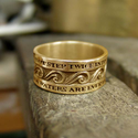 Buddhist Jewelry Rings | The Ring of Eternal Flow - Gold