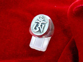 Buddhist Jewelry Rings | Tibetan Om Ring - Silver