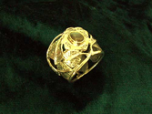 Buddhist Jewelry Rings | Inlaid Buddhi Ring - Gold