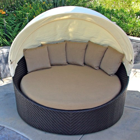 Affordable Round Outdoor Daybeds With Canopy Amp Ottoman A