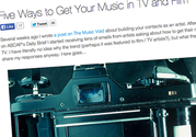 Copywriting & Content for the Music Industry | VEN