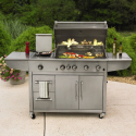 Dream Backyard Oasis #SearsPatio #SummerWithSears | 4-Burner Industrial Grill- Kenmore Elite-Outdoor Living-Grills & Outdoor Cooking-Gas Grills