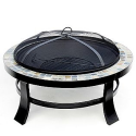 Round Slate Tile Fire Pit- Garden Oasis-Outdoor Living-Firepits & Patio Heaters-Firepits