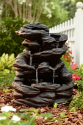 Rock Waterfall Fountain- Garden Oasis-Outdoor Living-Outdoor Decor-Fountains & Pumps