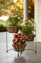 3 Tier Wire Basket Plant Stand*- Garden Oasis-Outdoor Living-Outdoor Decor-Planters
