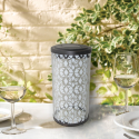 Dream Backyard Oasis #SearsPatio #SummerWithSears | Frosted Fretwork Cylinder Solar Lantern- Smart Solar-Outdoor Living-Outdoor Lighting-Decorative Lighting