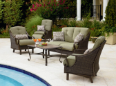 Dream Backyard Oasis #SearsPatio #SummerWithSears | Peyton 4 Pc. Seating Set- La-Z-Boy-Outdoor Living-Patio Furniture-Casual Seating Sets