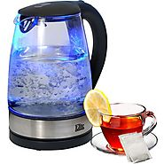 Best Electric Tea Kettles | Elite by Maxi-Matic Platinum 1.8-qt. Cordless Glass Electric Tea Kettle - Kitchen Things