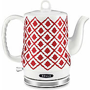 Best Electric Tea Kettles | Bella Red Ceramic Kettle - Kitchen Things