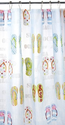 Flip Flop Bathroom Decorations | Excell Home Fashions Flip Flops Shower Curtain