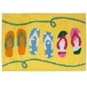Flip Flop Bathroom Decorations | Allure Home Creations Sun and Sand Bath Rug - Beach Bathroom Rug. Powered by RebelMouse