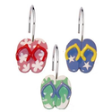 Flip Flop Bathroom Decorations | Flip Flops Shower Curtain Hooks - set of 12. Powered by RebelMouse