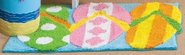 Flip Flop Bathroom Decorations | Hanging Loose Rug - Bath Rugs. Powered by RebelMouse