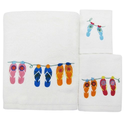 Flip Flop Bathroom Decorations | Allure Home Creations Sun and Sand Towel Set, 3-Piece. Powered by RebelMouse
