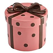 Unique Cookie Jars | Cake Boss Novelty Serveware Present Cookie Jar, Pink