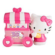 Unique Cookie Jars | Vandor 18241 Limited Edition Hello Kitty Ice Cream Cart Ceramic Cookie Jar, Pink/White