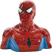 Unique Cookie Jars | Westland Giftware Ceramic Cookie Jar, Spider-Man, Multicolor
