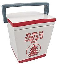 Unique Cookie Jars | Chinese Take-Out Box Ceramic Cookie Jar Fortune