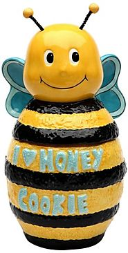 Unique Cookie Jars | Appletree Design Bee Cookie Jar, 10-Inch