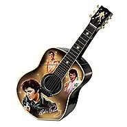 Unique Cookie Jars | Elvis Presley Guitar Shaped Ceramic Cookie Jar: Elvis A Taste Of Rock 'N' Roll by The Bradford Exchange