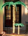 Roman Lights 169481 7-Feet Tall Holographic Ropelight Palm Tree-Plugs In Statue