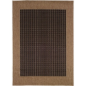 Couristan Rugs - Recife Checkered Field/Black-Cocoa Indoor/Outdoor Rug--For the Home-Rugs-Area Rugs