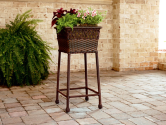 Wicker Square Plant Stand- Ty Pennington Style-Outdoor Living-Outdoor Decor-Planters
