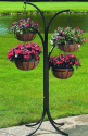 My Dream Outdoor Living Space | 4-Arm Tree with Hanging Baskets- Cobraco-Outdoor Living-Outdoor Decor-Planters