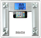 "Best Rated Bathroom Scales 2013 - 2014 | BalanceFrom High Accuracy Digital Bathroom Scale with 4.3"" Extra Large Cool Blue Backlight Display and ""Smart Step-On..."