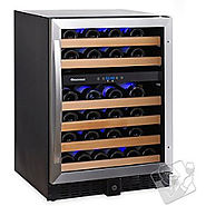 Best Small Wine Cellars | Wine Enthusiast Classic 46 Dual Zone Wine Cellar - Kitchen Things