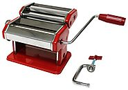 Best Pasta Maker Reviews | Metro Fulfillment House Italian Style Pasta Maker, Red Finish