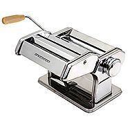 Best Pasta Maker Reviews | Ovente PA591S Vintage Stainless Steel Pasta Maker, Polished Chrome