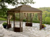Throw a Summer Olympics Dream Party (Dreamy Backyard) #SummerWithSears, #SearsPatio, #GrillingIsHappiness | Bay Window Gazebo- Garden Oasis-