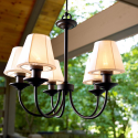 Throw a Summer Olympics Dream Party (Dreamy Backyard) #SummerWithSears, #SearsPatio, #GrillingIsHappiness | Electric Chandelier- Garden Oasis-Outdoor Living-Outdoor Lighting-Decorative Lighting