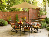 Throw a Summer Olympics Dream Party (Dreamy Backyard) #SummerWithSears, #SearsPatio, #GrillingIsHappiness | Highland 7 Pc. Cast Dining Set- Country Living-Outdoor Living-Patio Furniture-Dining Sets