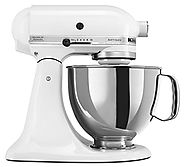Best KitchenAid Mixer Reviews 2014 - 2015 | KitchenAid KSM150PSWH 5-Qt. Artisan Series with Pouring Shield - White