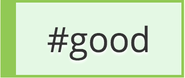 Good hashtags (Green)