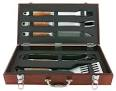 Mr Bar B Q 02136X PD Forged 5-Piece Set in Wood Carrying Case