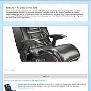 Best Rated Chairs for Video Games | Best Chairs for Video Games 2015