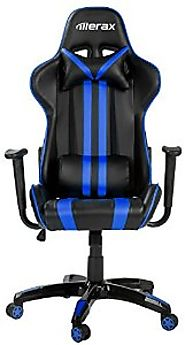 Best Rated Chairs for Video Games | Merax Ergonomic High Back Reclining Chair, Blue and Black