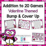 Valentine Addition Games Bump and Cover Up by Mercedes Hutchens | TpT