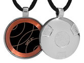 Qlink EMF Protection Pendant - Complete List | NEW! Silver Retro SRT-3 Q-Link Pendant (Brushed)