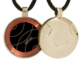 Qlink EMF Protection Pendant - Complete List | Gold Retro SRT-3 Q-Link Pendant (Polished)