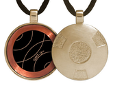 Qlink EMF Protection Pendant - Complete List | Gold Retro SRT-3 Q-Link Pendant (Brushed)