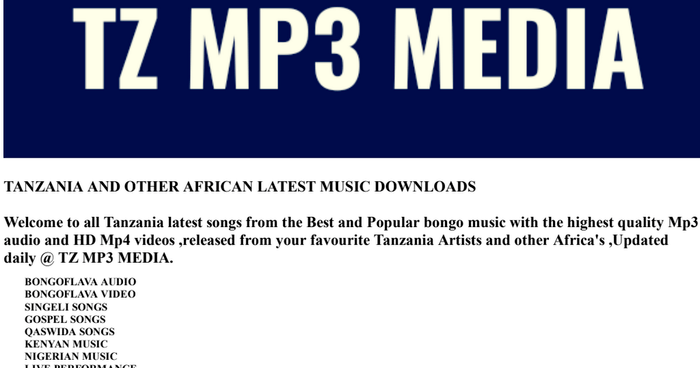 Latest Tanzania and Other African Music Downloads | A Listly