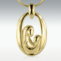 Memorial Cremation Urn Jewelry 14k Collection Spring 2014 | Mother and Child 14k Gold Vermeil Cremation Jewelry