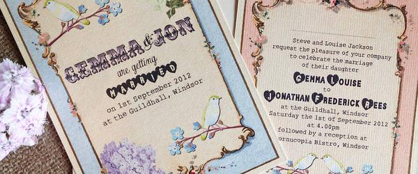 Best Affordable Vintage Style Wedding Invitations