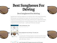 Best Sunglasses For Driving In Sunny Snow Glare | Best Sunglasses For Driving